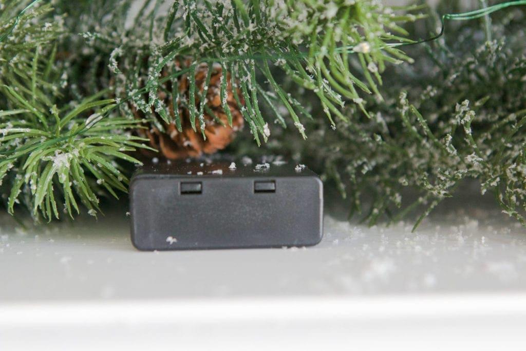 easy battery power lights on garland