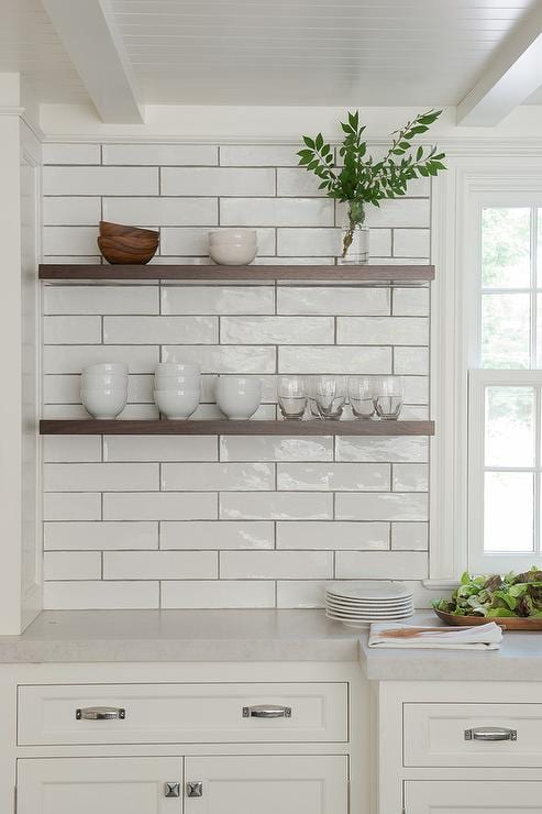 extra long white subway tile from Lowe's
