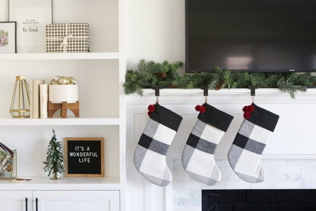 plaid stockings from Magnolia Home at Target