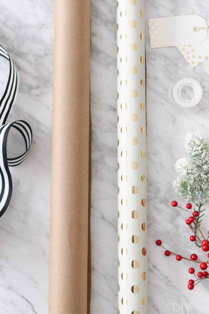 Choose thick high-quality wrapping paper