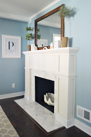 Fireplace makeover from young house love