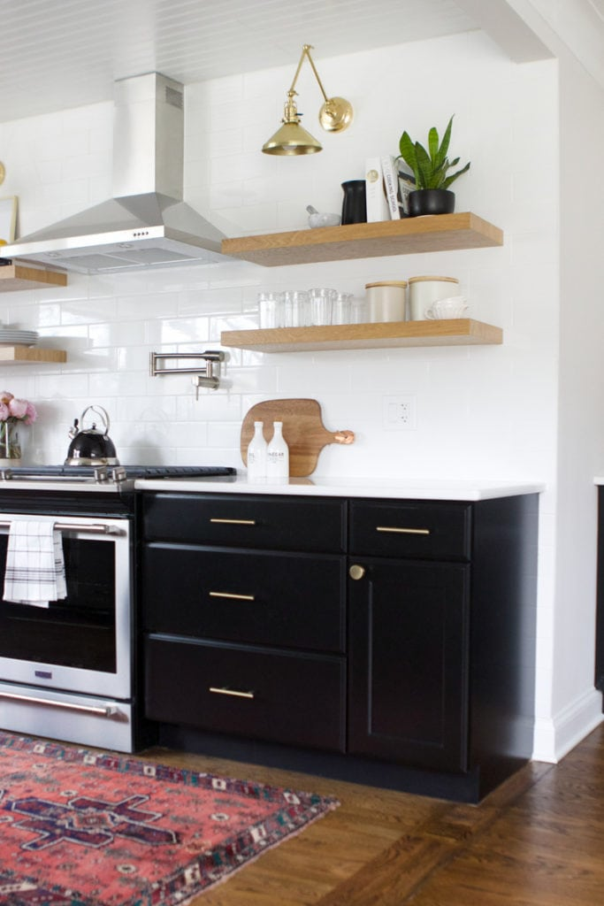 built-in cabinet organizers in the kitchen