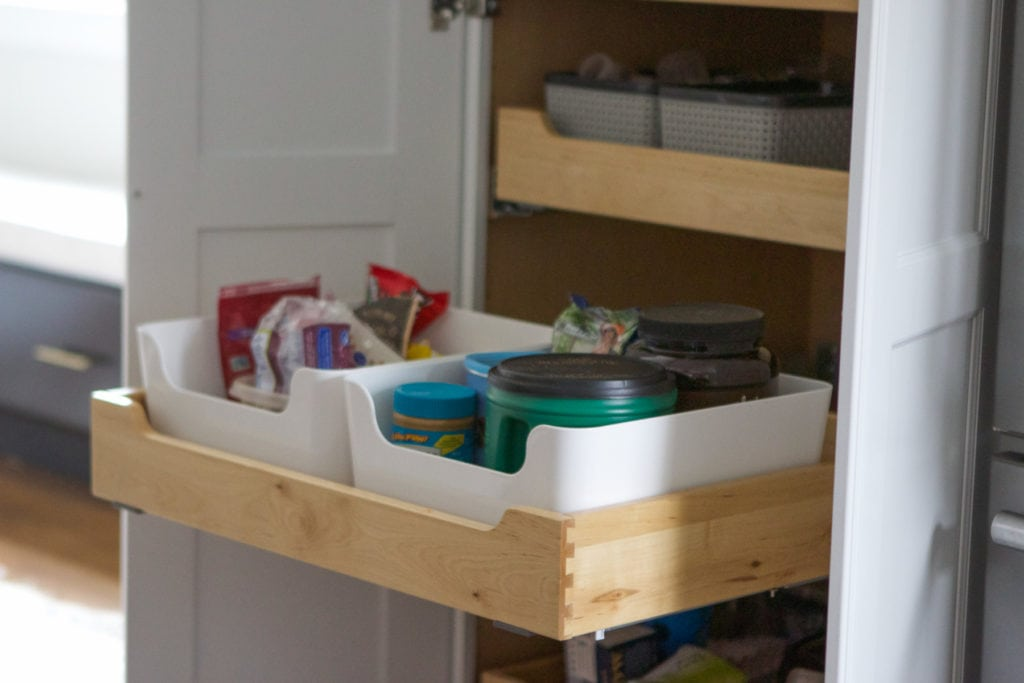 kitchen pantry easy access drawers