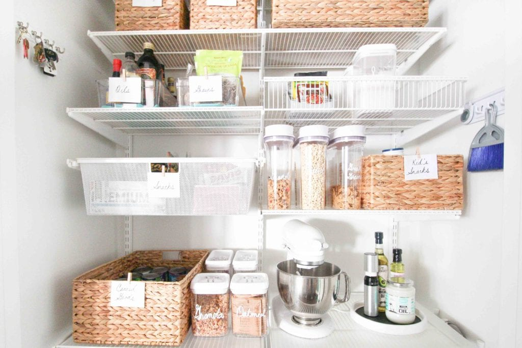 An organized and labeled pantry makeover!
