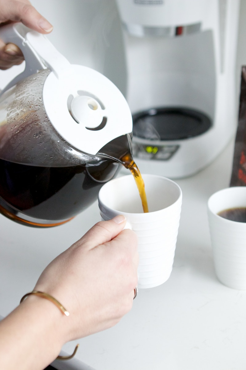 Pouring coffee from McDonalds