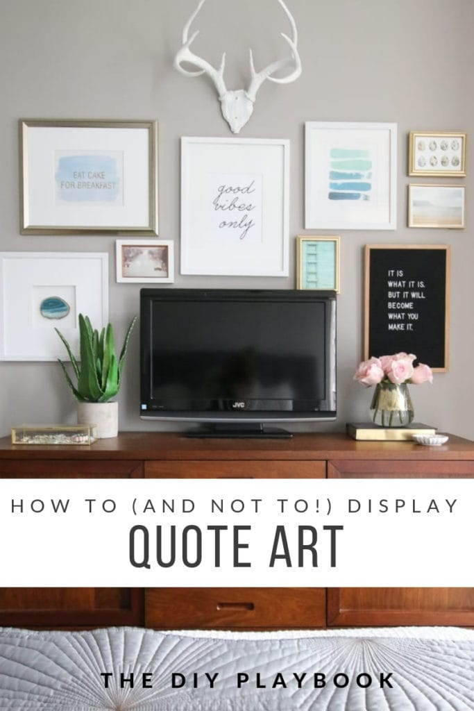 how to display quote art
