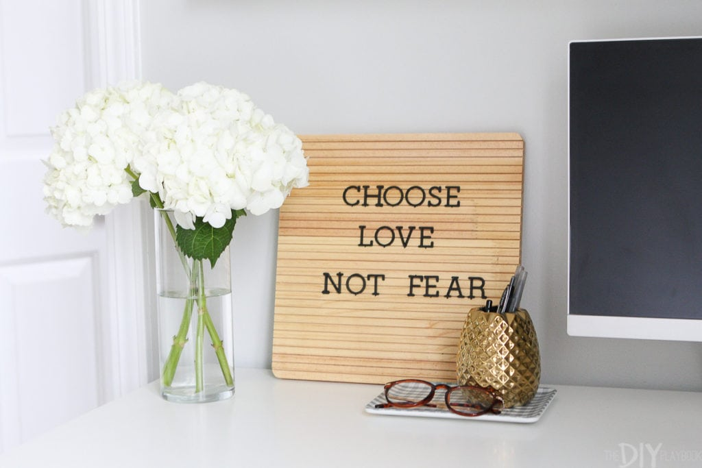 Choose love not fear quote