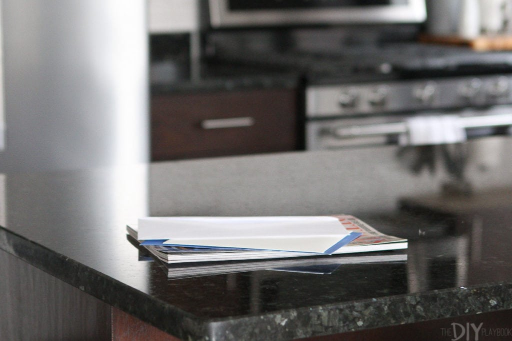 Mail on the countertops