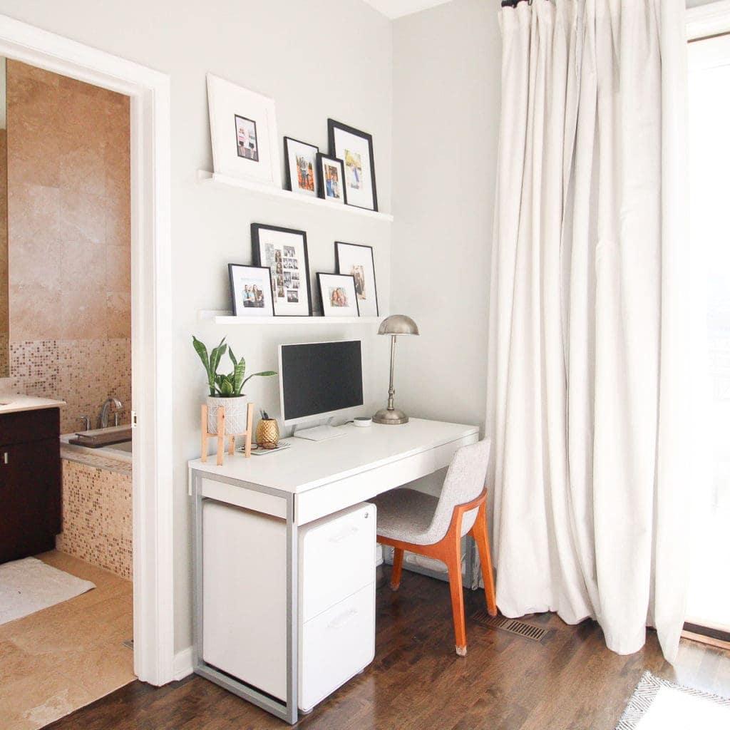 Organized desk area in the bedroom