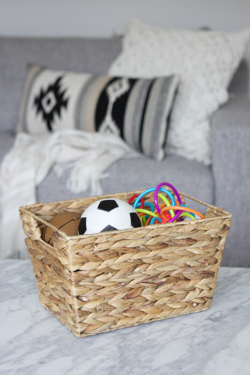 basket of toys hidden