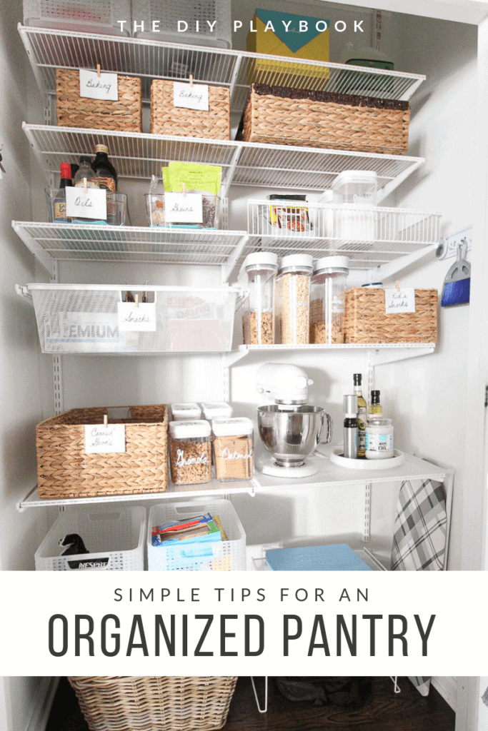 Simple tips and tricks to organize a pantry