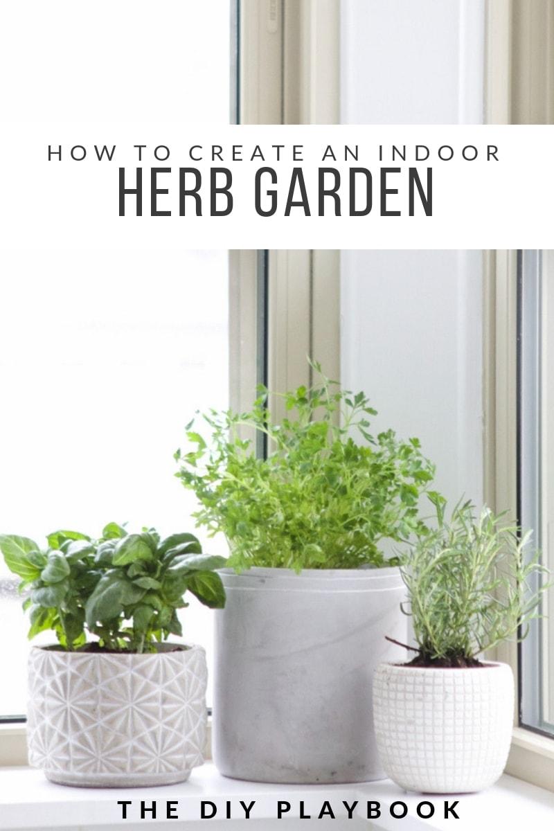 how to create an indoor herb garden