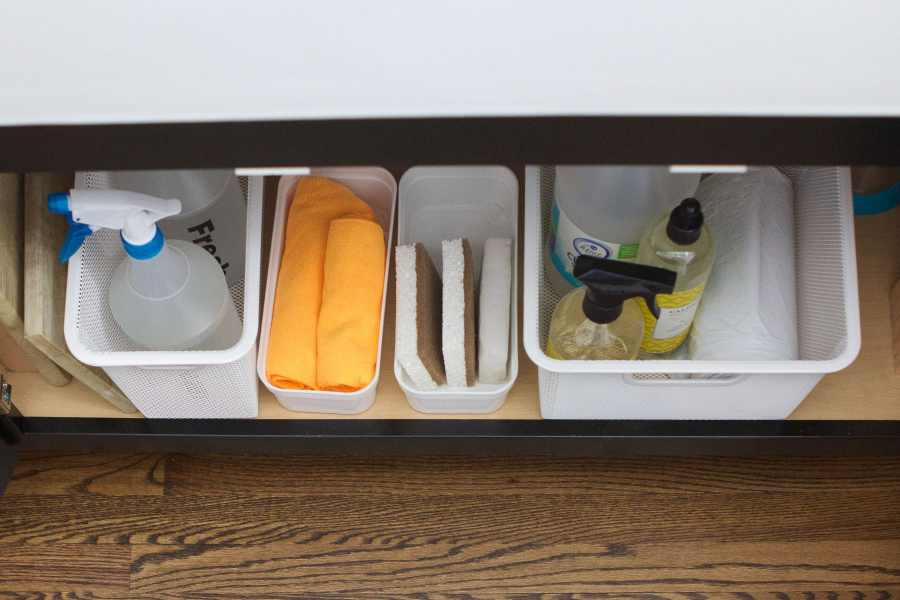 organizing under the sink made easy