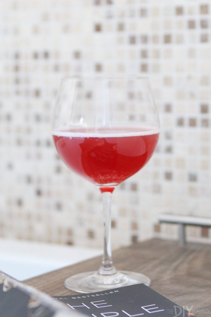 Glass of kombucha