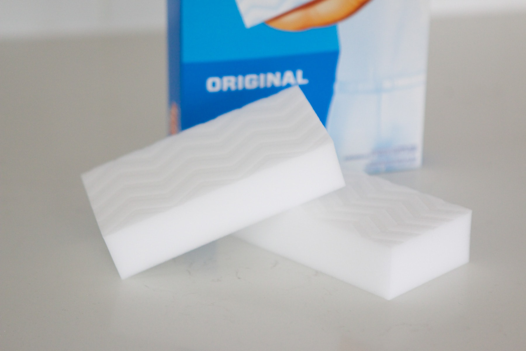 Use a magic eraser to clean up scuffs on baseboards