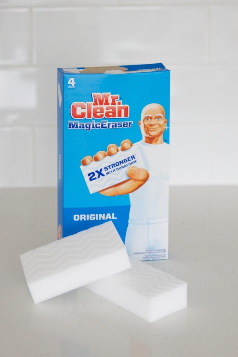 magic eraser to clean sink