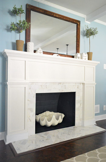 Fireplace makeover by Young House Love