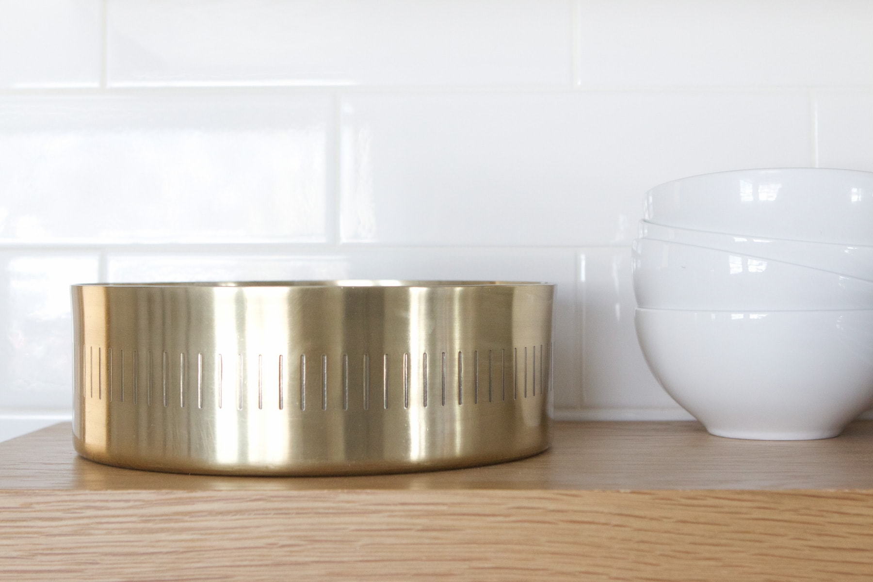 brass bowl in the kitchen