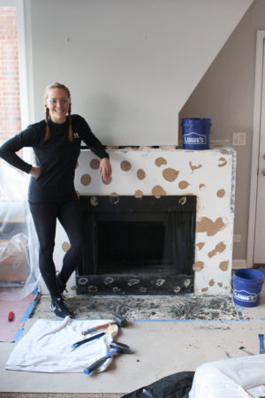 Demoing a fireplace