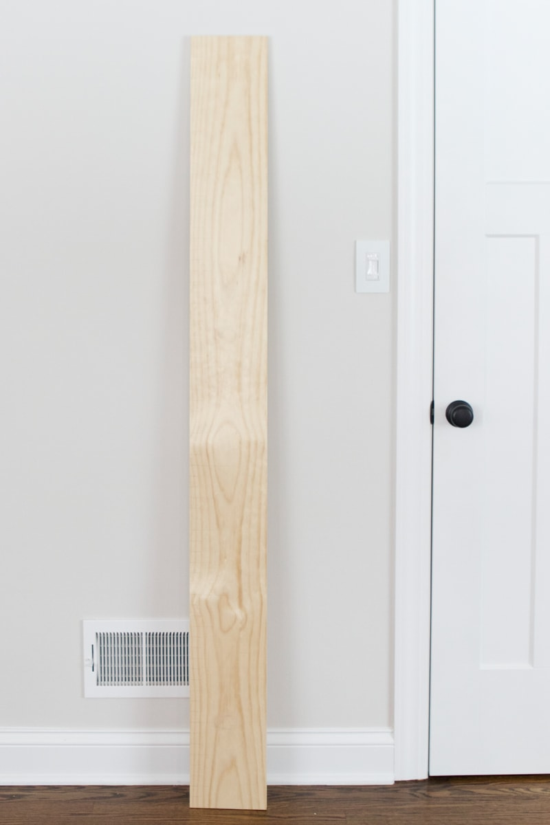 pine board for growth chart