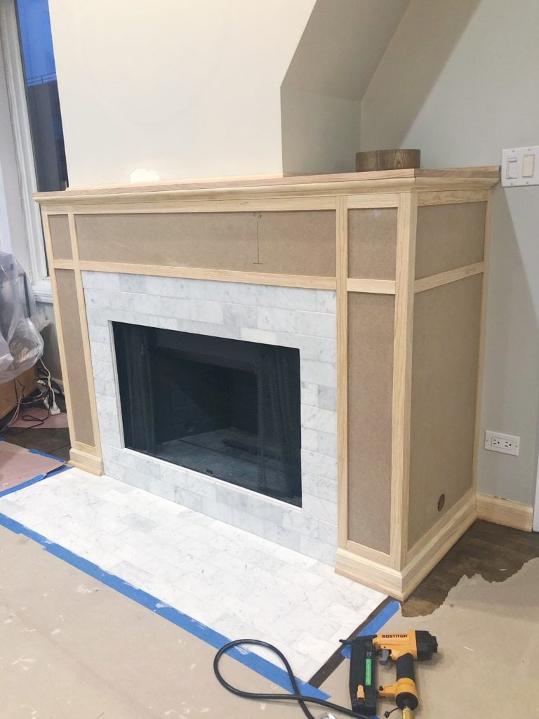 Building a DIY fireplace mantle