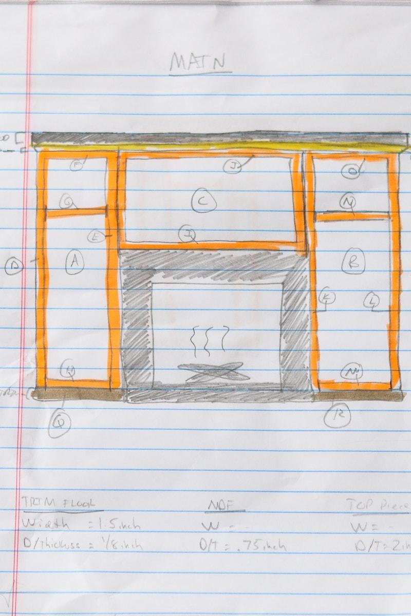 Fireplace mantle blueprints