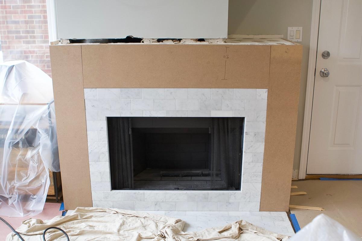 Adding mdf to a fireplace surround