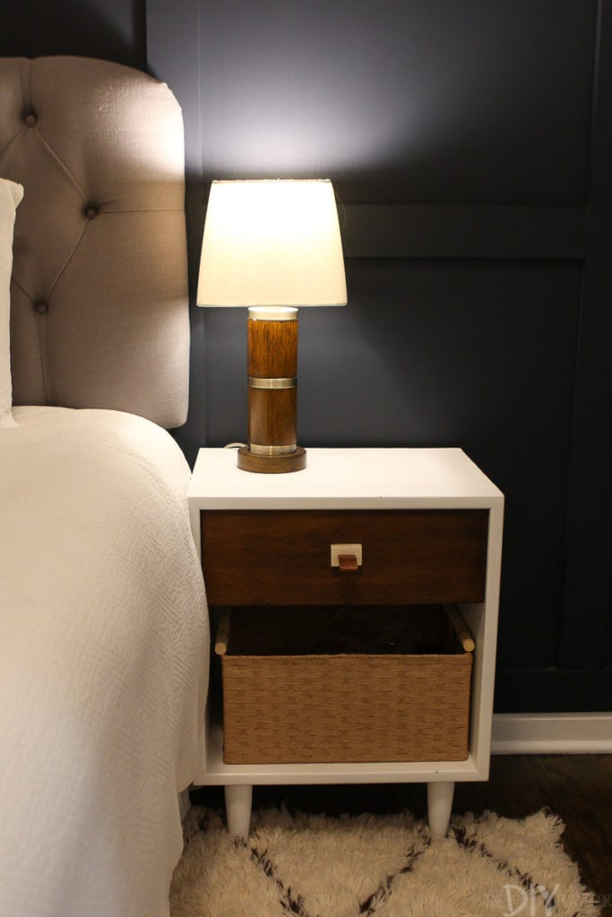 Table lamp on nightstand
