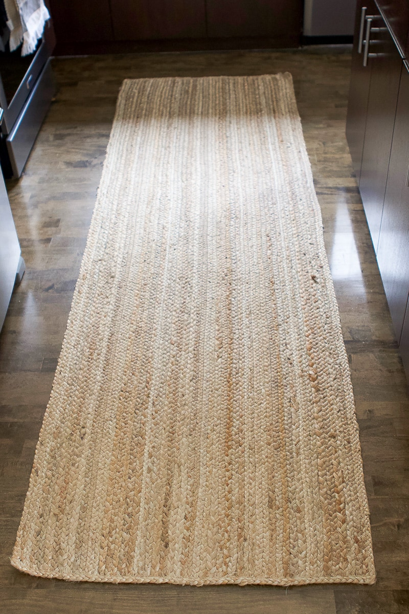 Jute runner in the kitchen