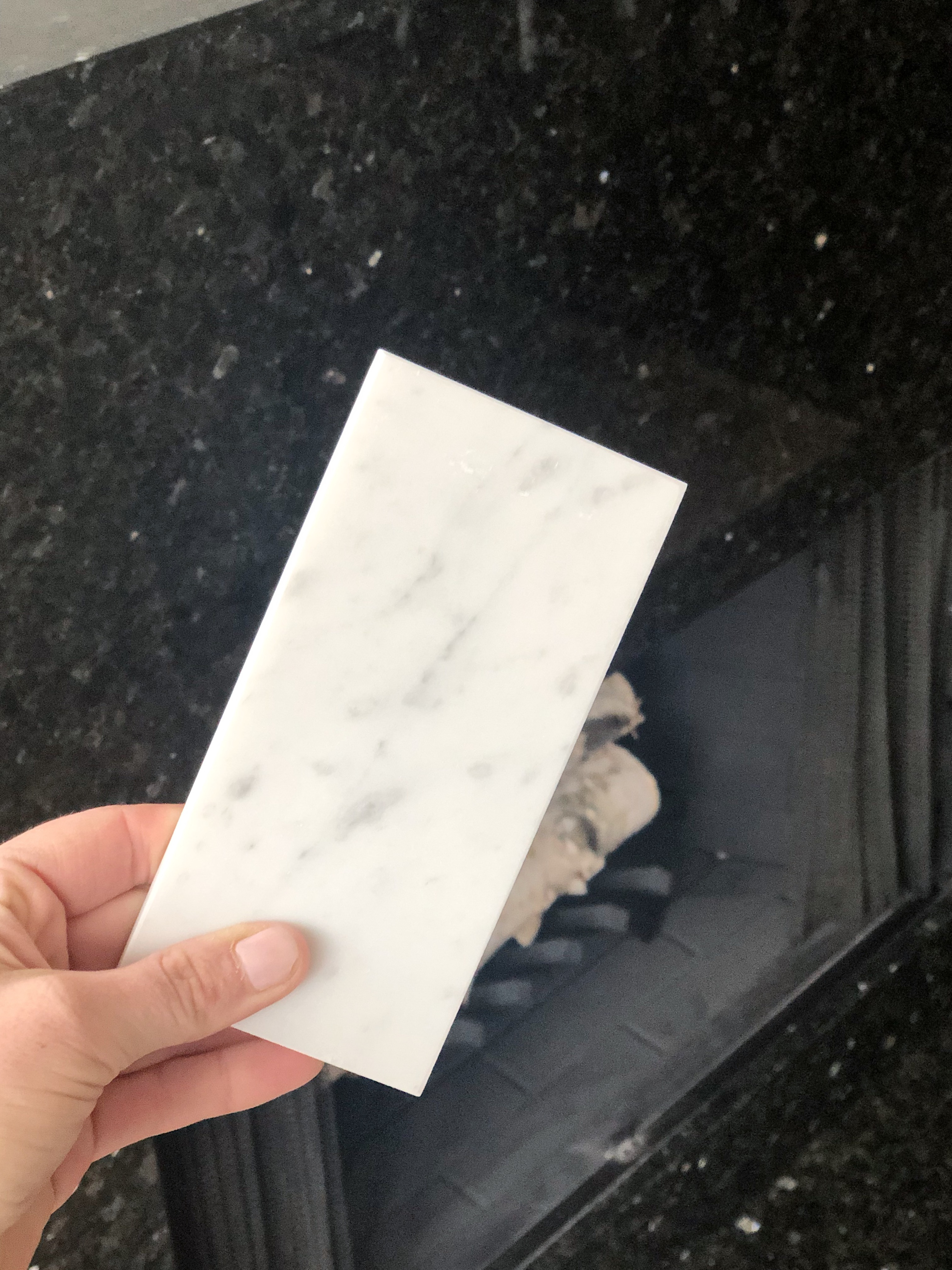 Marble subway tile from floor and decor