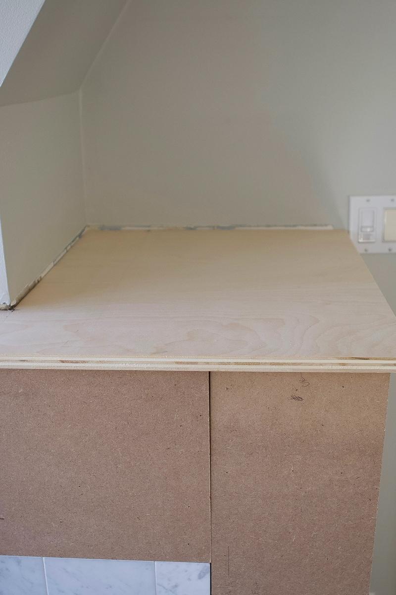 L-shaped plywood