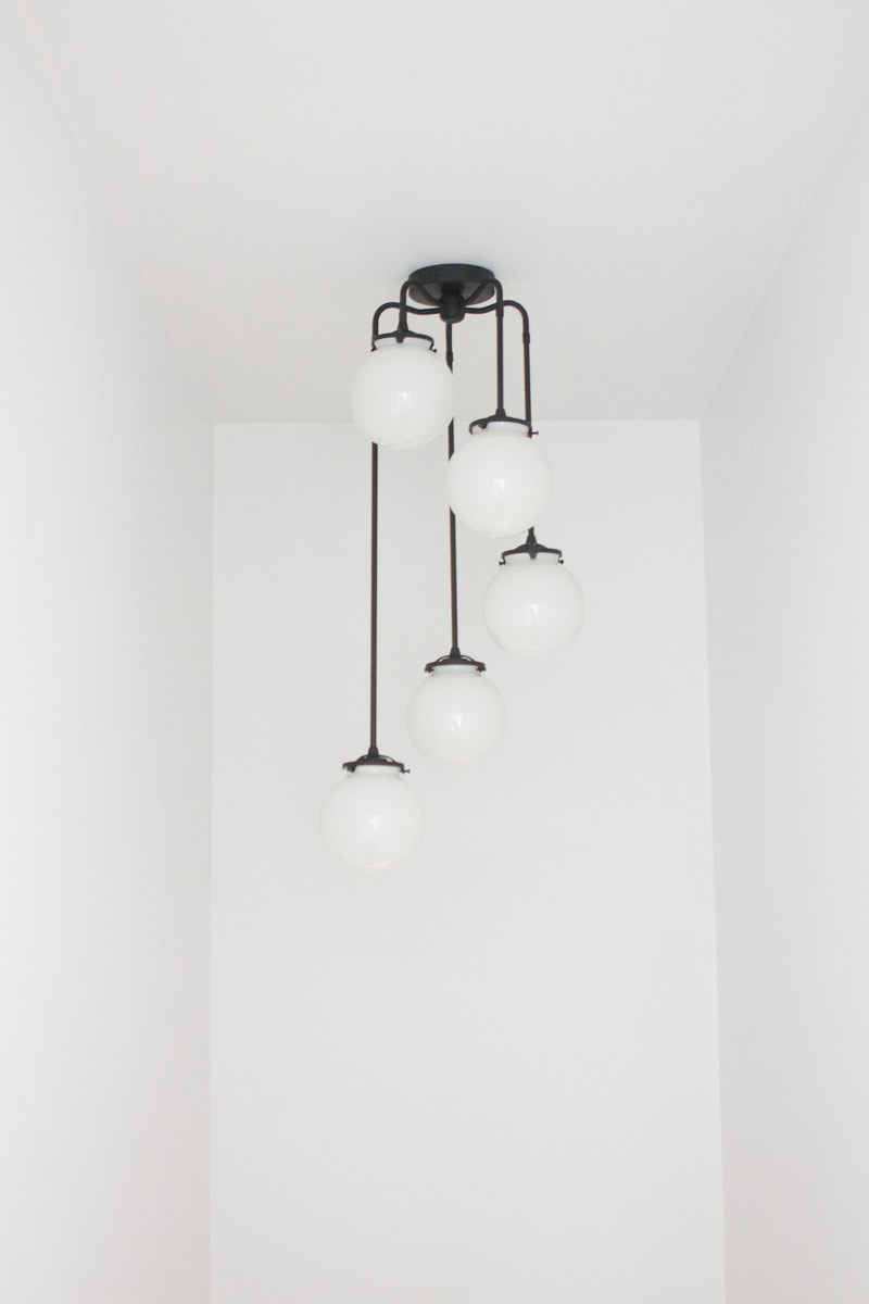 etsy stairwell light fixture