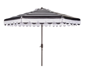 Outdoor striped umbrella