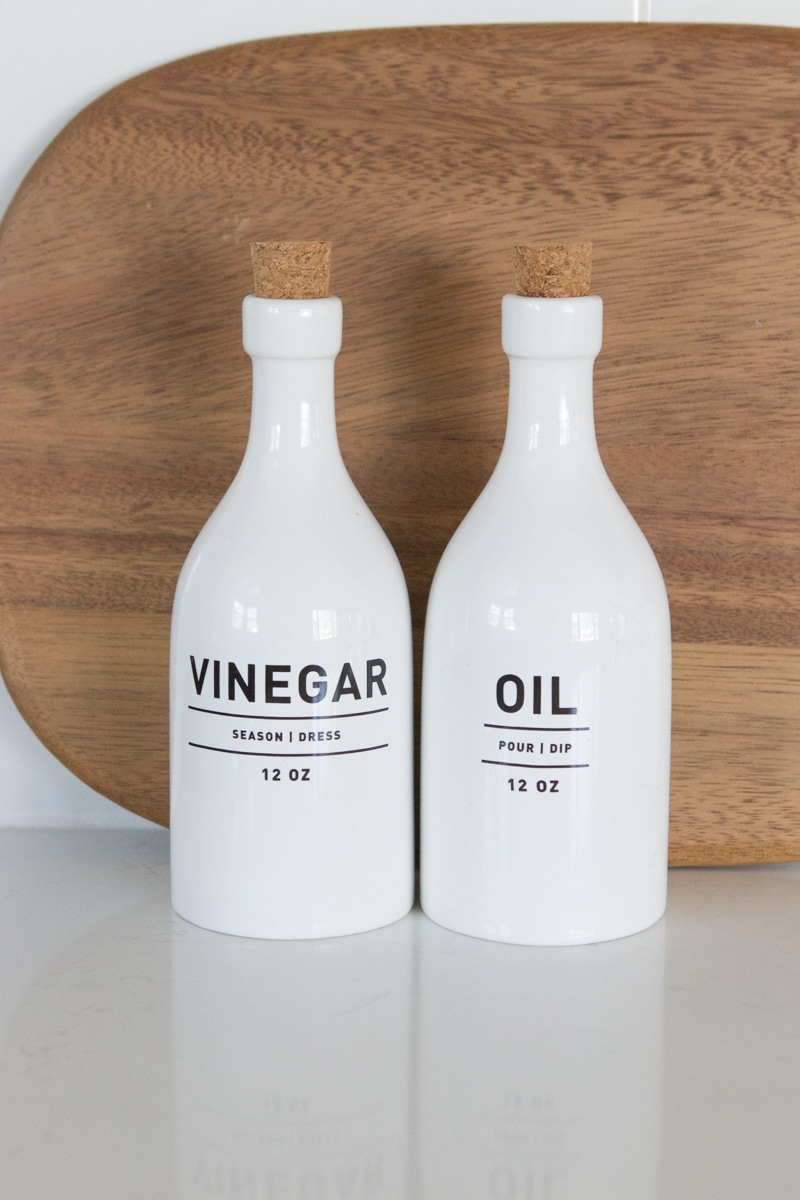 oil and vinegar jars