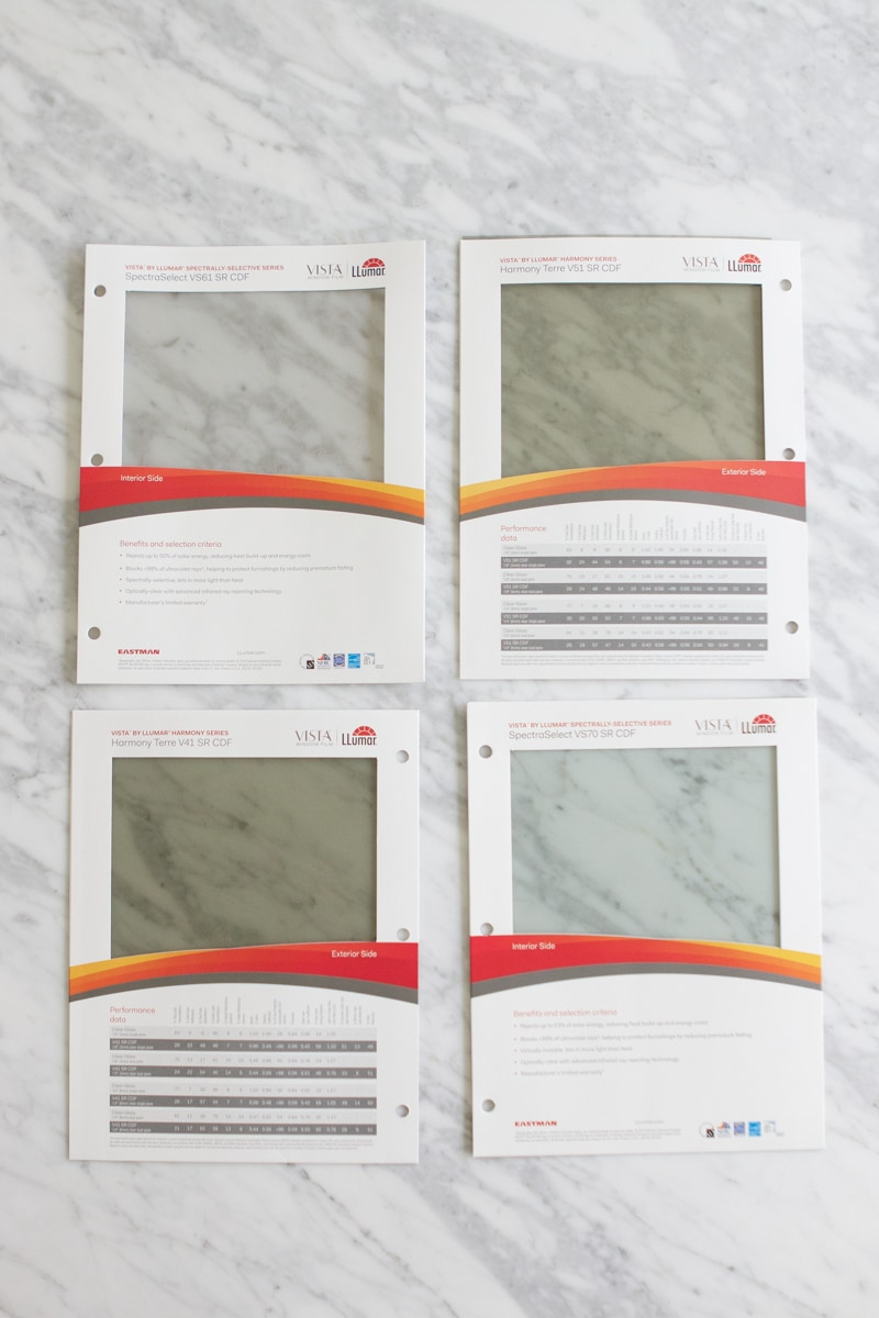 Llumar window film samples