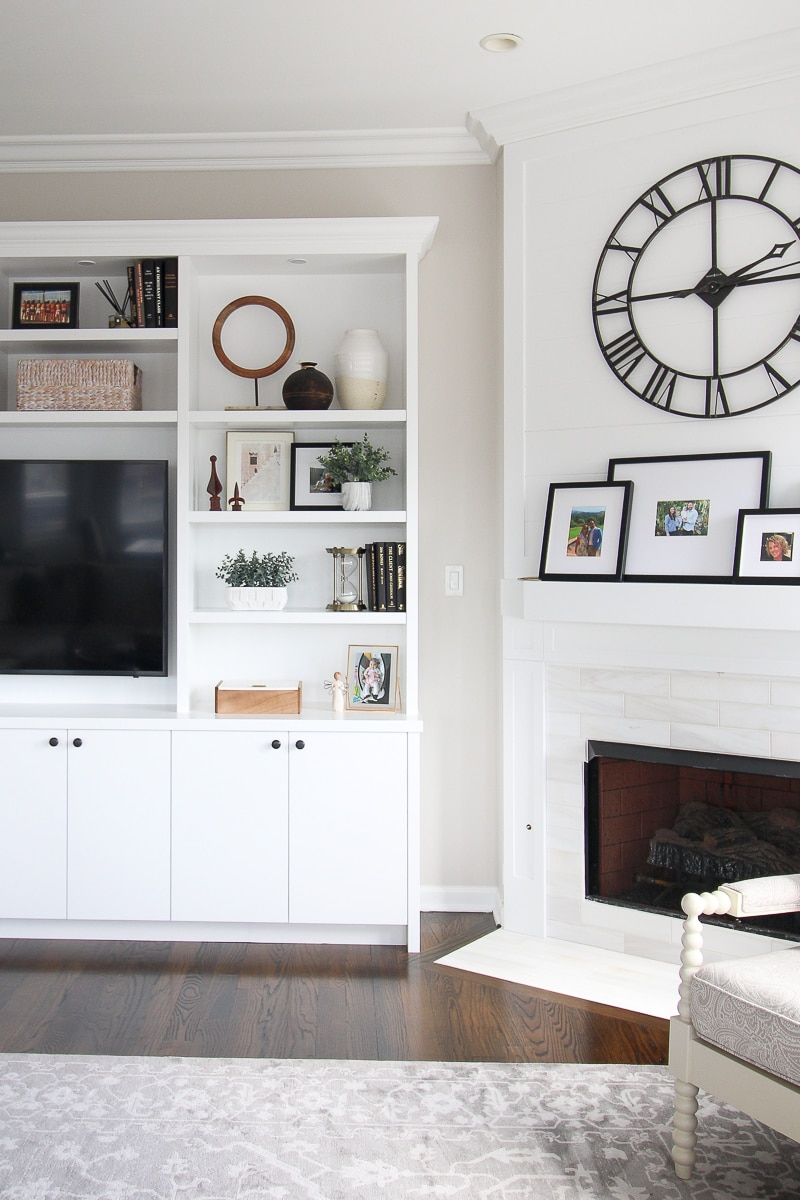 How to style built-in shelves