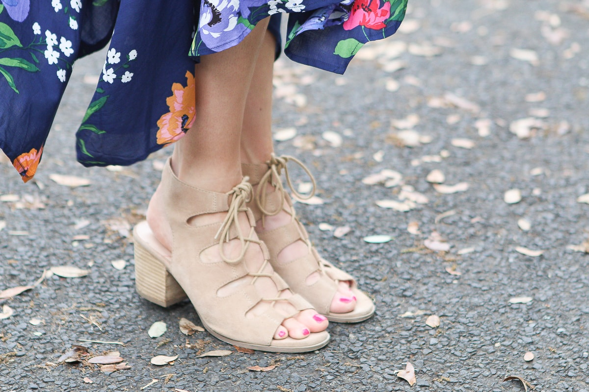 Nude wedges for a spring wedding