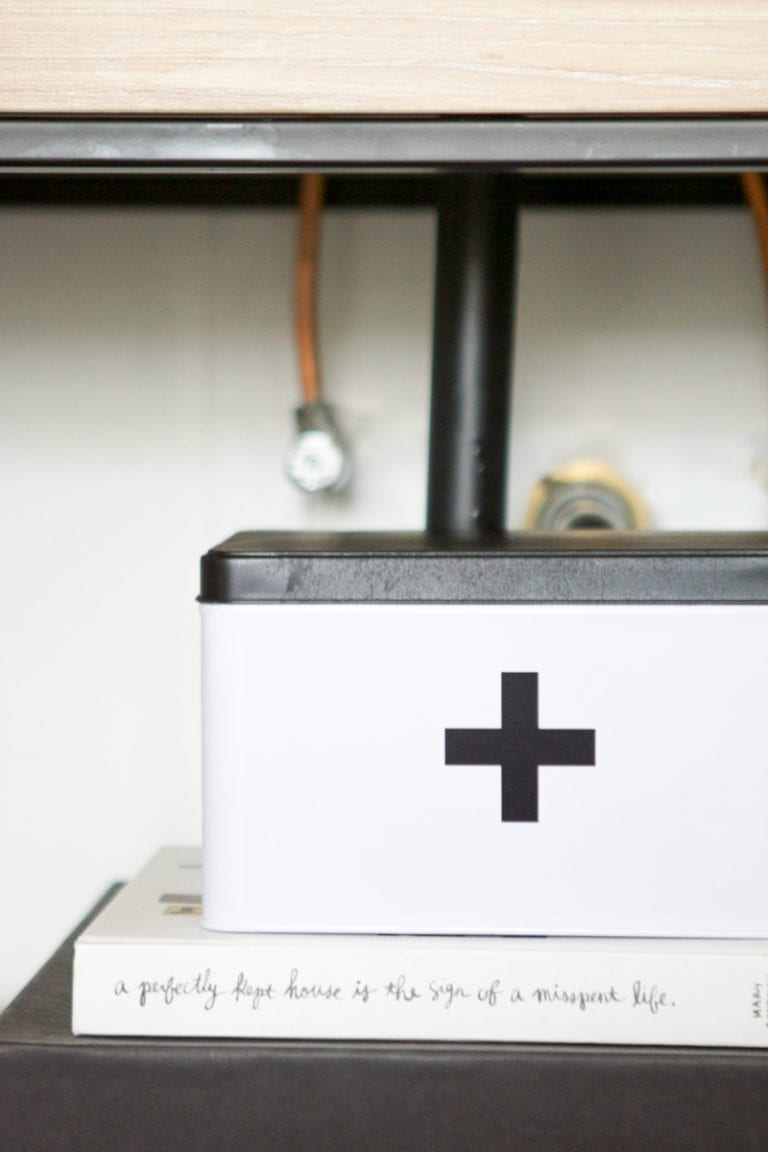 DIY first aid kit box for the bathroom