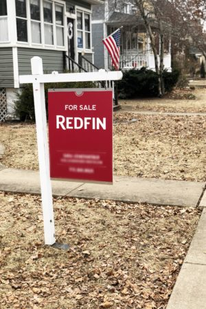 For sale sign when house hunting