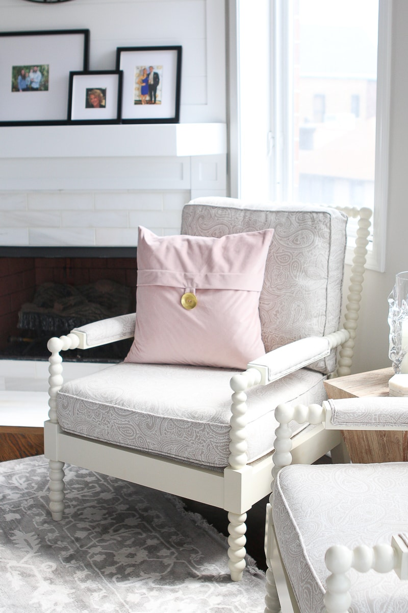 Accent chair in a living room