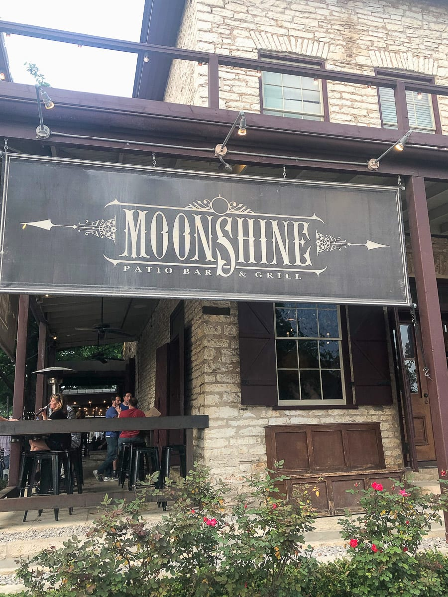 Moonshine restaurant in austin