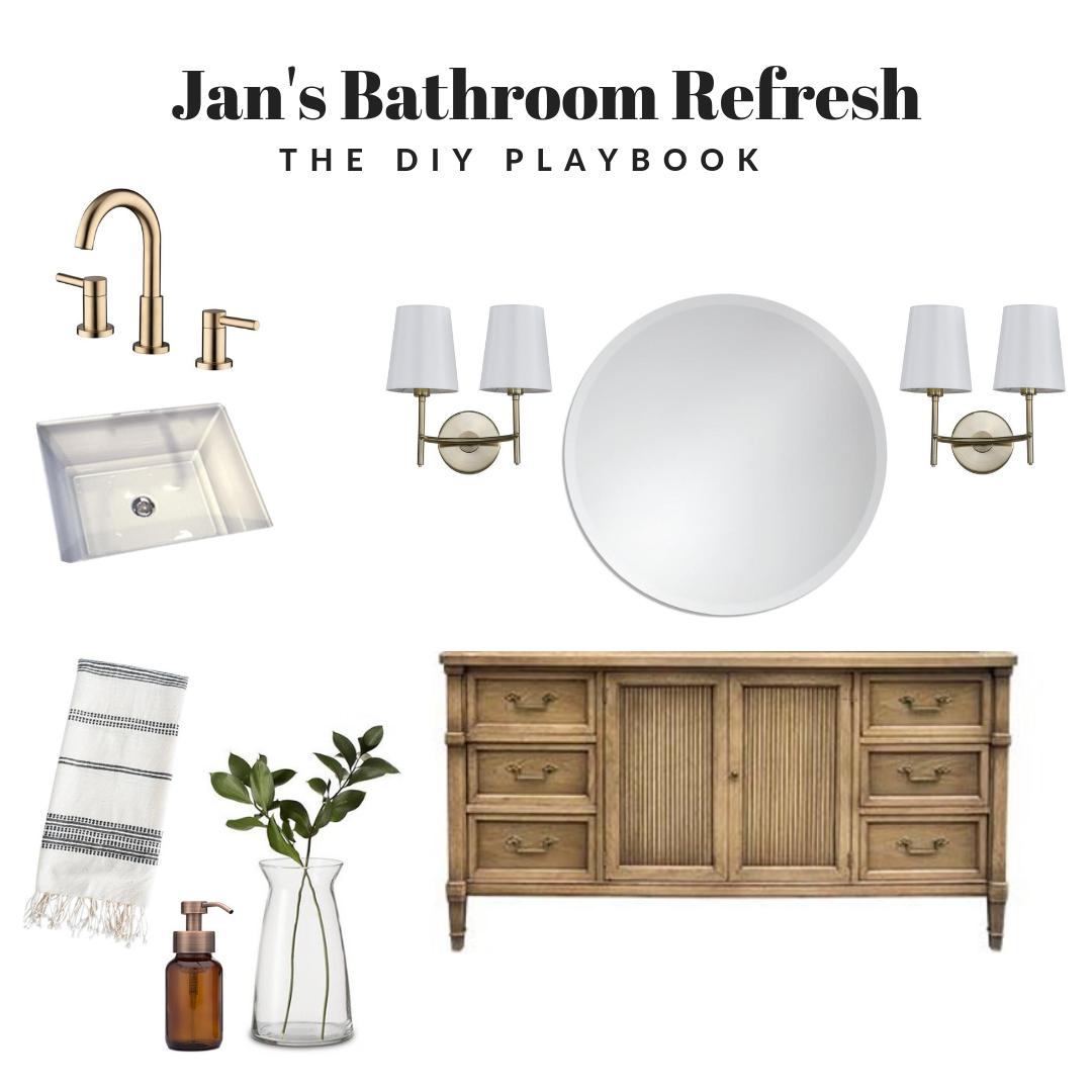 Master bathroom refresh mood board