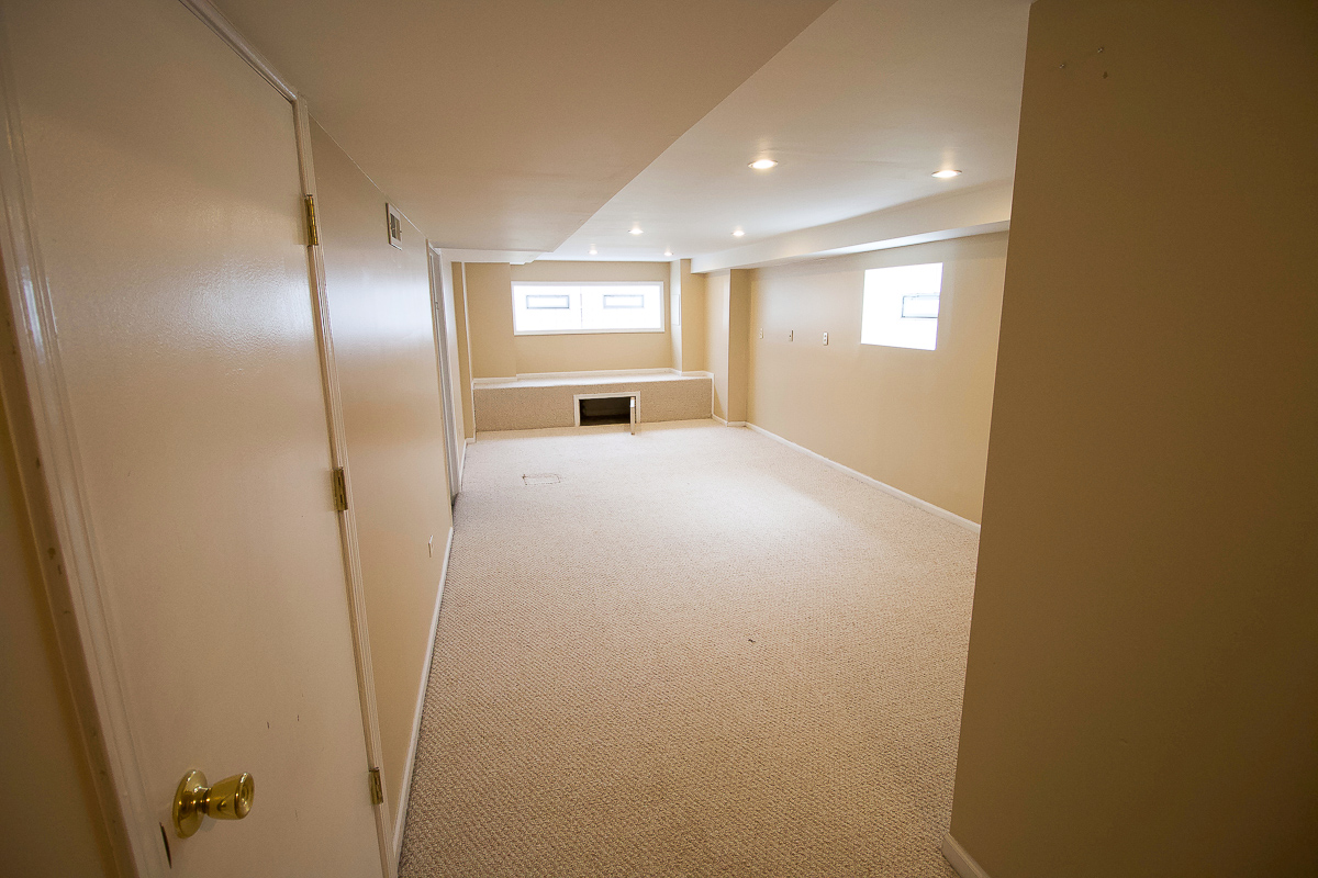 Our basement before