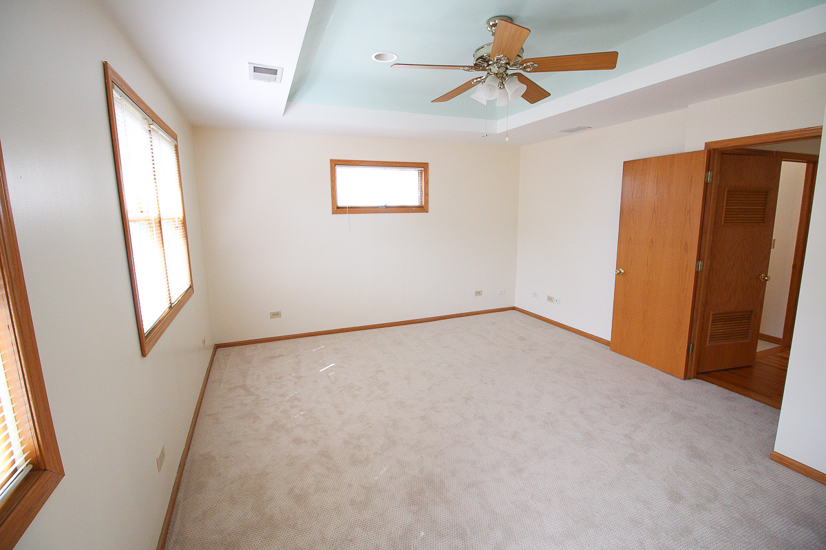 Master bedroom on the 2nd floor of the home