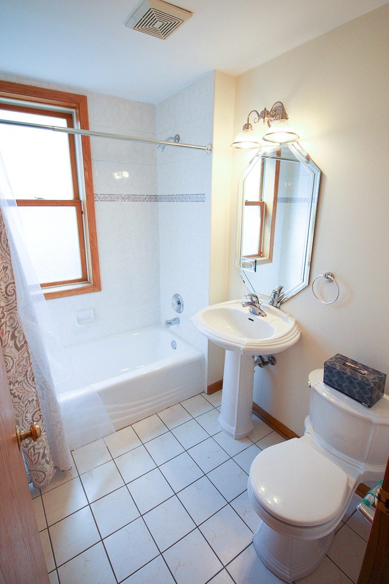 First floor bathroom before