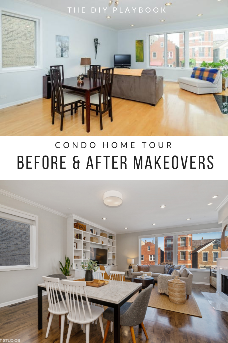 Before and after condo tour