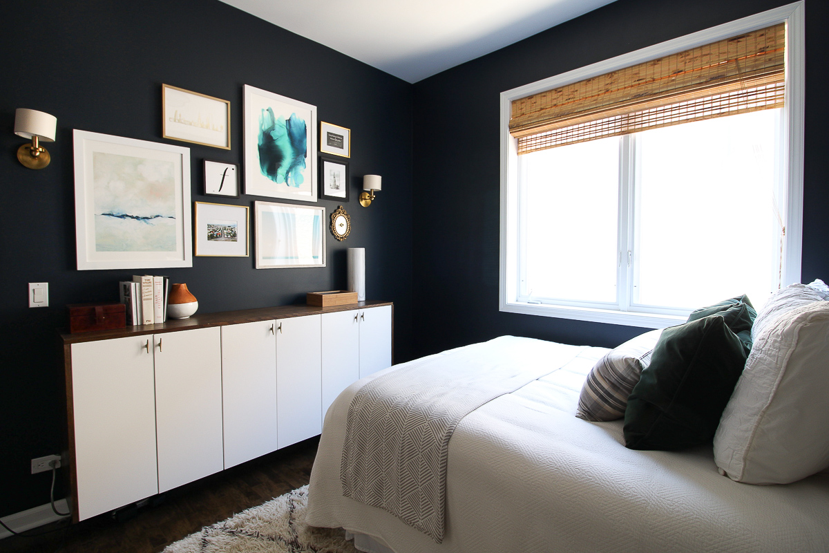 guest bedroom before and after condo tour