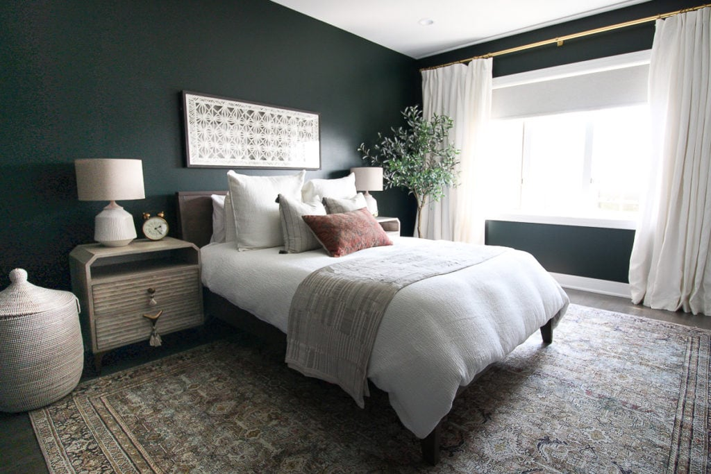 dark green guest room reveal
