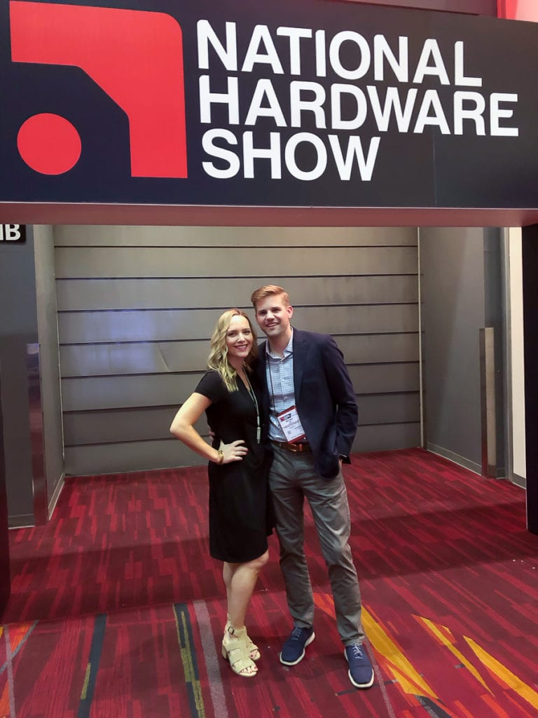 casey and finn at the national hardware show