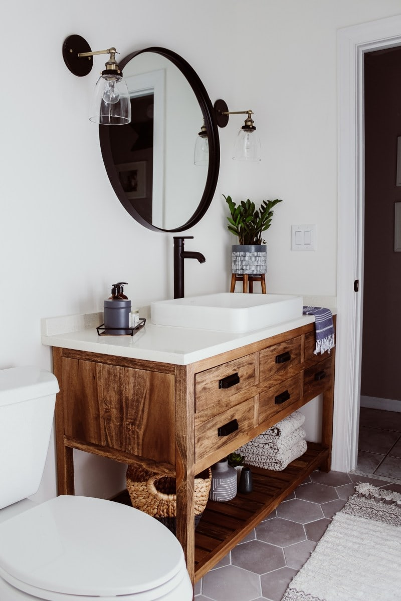 Bathroom Reveal from Within the Grove